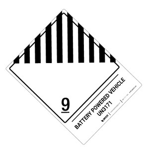 Battery Powered Vehicle Label