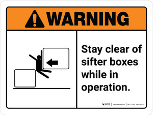 Warning: Stay Clear Of Sifter Boxes While Landscape - Wall Sign