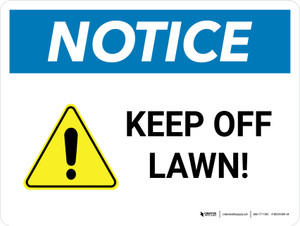 Notice: Keep Off Lawn Landscape - Wall Sign