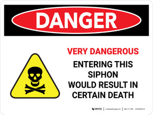 Danger: Very Dangerous Entering This Siphon Landscape - Wall Sign