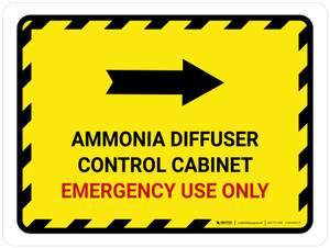Ammonia Diffuser Control Cabinet Right Arrow Landscape - Wall Sign