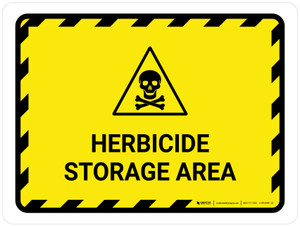 Herbicide Storage Area Landscape - Wall Sign