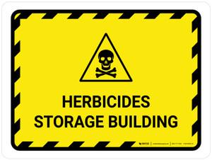 Herbicide Storage Building Landscape - Wall Sign