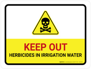 Keep Out Herbicides In Irrigation Water Landscape - Wall Sign