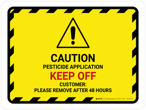 Pesticide Application Keep Off Landscape - Wall Sign