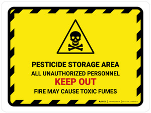 Pesticide Storage Area All Unauthorized Landscape - Wall Sign