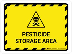 Pesticide Storage Area Landscape - Wall Sign