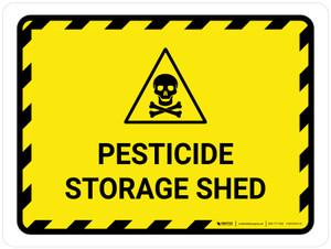 Pesticide Storage Shed Landscape - Wall Sign