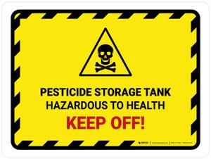Pesticide Storage Tank Landscape - Wall Sign