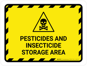 Pesticides And Insecticide Storage Area Landscape - Wall Sign
