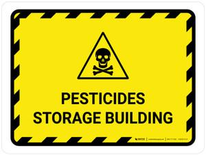 Pesticides Storage Building Landscape - Wall Sign