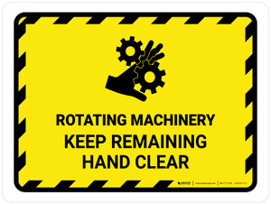 Rotating Machinery Keep Remaining Landscape - Wall Sign