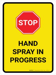 Hand Spray In Progress Portrait - Wall Sign