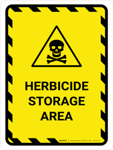 Herbicide Storage Area Portrait - Wall Sign