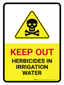 Keep Out Herbicides In Portrait - Wall Sign