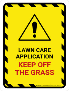 Lawn Care Application Portrait - Wall Sign