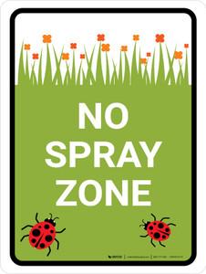 No Spray Zone Portrait - Wall Sign