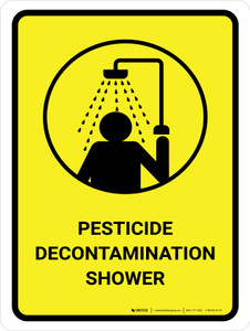 Pesticide Decontamination Shower Portrait - Wall Sign