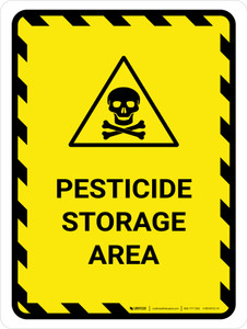 Pesticide Storage Area Portrait - Wall Sign