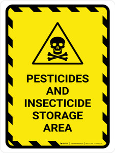 Pesticides And Insecticide Storage Area Portrait - Wall Sign