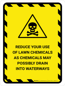 Reduce Your Use Of Lawn Chemicals Portrait - Wall Sign