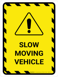 Slow Moving Vehicle Portrait - Wall Sign