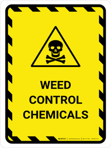 Weed Control Chemicals Portrait - Wall Sign