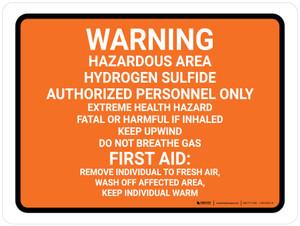 Hazardous Area Hydrogen Sulfide Landscape - Wall Sign