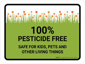 Pesticide Free Safe Landscape - Wall Sign