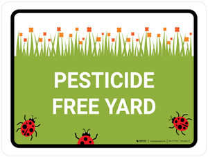 Pesticide Free Yard Landscape - Wall Sign