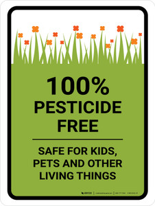 Pesticide Free Safe Portrait - Wall Sign