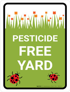 Pesticide Free Yard Portrait - Wall Sign