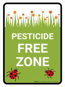Pesticide Free Zone Portrait - Wall Sign