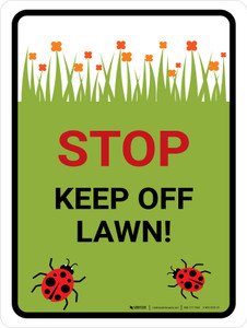 Keep Off Lawn Portrait - Wall Sign