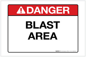 Danger: Blast Area Landscape - Label