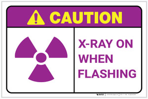 Caution: X Ray In Use Landscape - Label