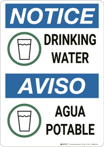 Notice: Drinking Water Agua Potable - Wall Sign