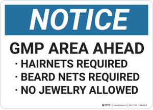 Notice: GMP Area Ahead - Wall Sign