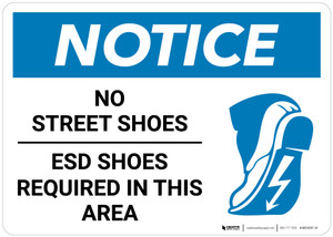 Notice: Esd Shoes Required - Wall Sign