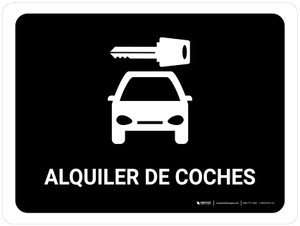 Car Rental Black Spanish Landscape - Wall Sign