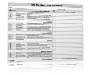 5S Evaluation Review Form