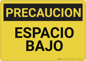 Caution: Low Clearance Spanish - Wall Sign