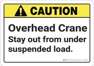 Caution: Overhead Crane ANSI - Wall Sign