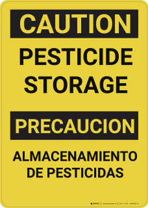 Caution: Pesticide Storage Bilingual - Wall Sign