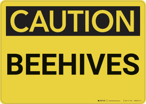 Caution: Beehives - Wall Sign