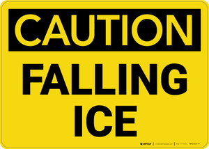 Caution: Falling Ice - Wall Sign