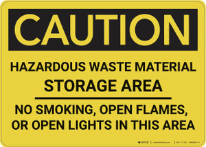 Caution: Hazardous Waste Material Storage Area - Wall Sign