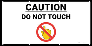 Caution Do Not Touch with Emoji - Banner