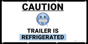 Caution Trailer is Refrigerated Emoji - Banner