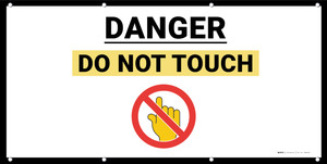 Danger Do Not Touch with Emoji - Banner